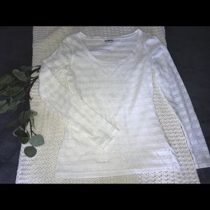 Express White Long Sleeve Top
